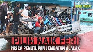 Hindari Kemacetan, Warga Alalak Pilih Naik Feri