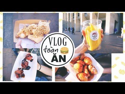[VLOG] ĐI ĂN VẶT CÙNG TRÂN NÀO CÁC CHẾ 😂 | Eating at UW Night Market 2018 | Diane Le