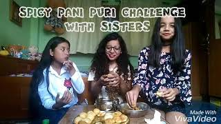 Spicy Panipuri Challenge With Sisters ❤❤❤