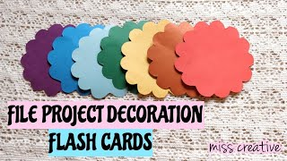 HOW TO MAKE FLASH CARDS FOR SCHOOL/COLLEGE ACTIVITIES/simple File Project/MISS CREATIVE