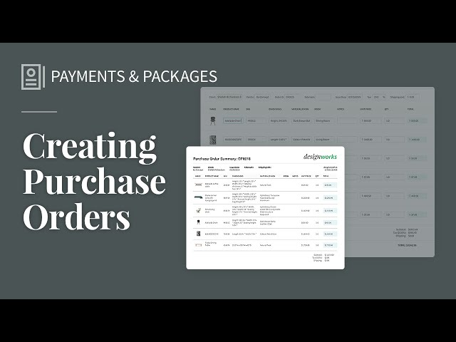 Creating Purchase Orders