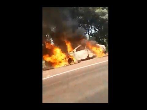 Incêndio em veículo roubado em Abelardo Luz