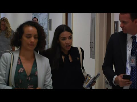 Rep. Alexandria Ocasio-Cortez says President Donald Trump's attacks on her and three other Democratic congresswomen are putting millions of Americans at risk of physical harm. (July 18)
