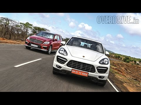 2014 Porsche Cayenne Turbo v/s Mercedes-Benz ML63 AMG - Comparative Review (India) - Porsch Videos