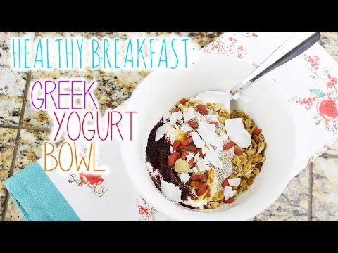 Video Healthy Breakfast: Greek Yogurt Bowl | vlogwithkendra