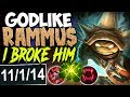 TOP LANE GODLIKE RAMMUS I BROKEN HIM INSANE DMG Rammus vs Riven TOP Season 8 Ranked Gameplay