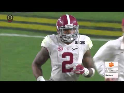 2016 National Championship Game - #1 Clemson vs. #2 Alabama Highlights