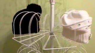 """Стенд вертушка для продажи вязаных шапок на 105 мест от компании """"СЕТКА ТОРГ"""" - производитель торгового оборудования для магазинов - видео"""
