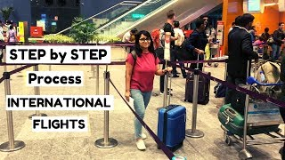 International Flights Check In Process in 2019 | Check in, Immigration, Security Check | Shachi Mall