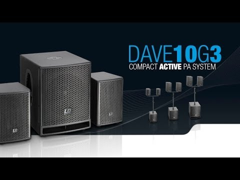 """LD Systems DAVE 10 G³ - Compact 10"""" powered PA System"""