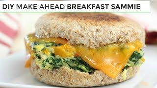 DIY Freezer Friendly Breakfast Sandwich   Easy Healthy Breakfast Ideas