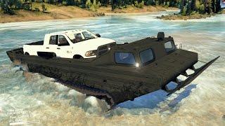 Vehículo Anfibio PTSM | Transportando Una Camioneta RAM