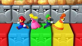 Mario Party 10 - Minigames - Mario vs Peach vs Luigi vs Daisy