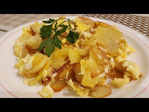 Receta - Revuelto de patatas con huevo y ajo | Cocina con Rock