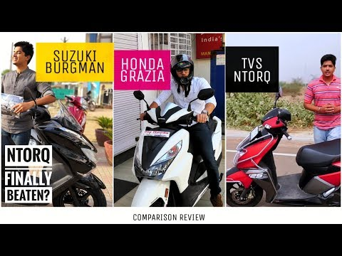 Suzuki Burgman vs TVS Ntorq vs Honda Grazia | Best 125cc Scooter | Comparison Review | हिंदी