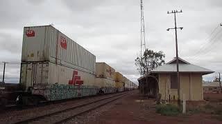 SCT freight train from Perth to Parkes, Tarcoola, Australia.