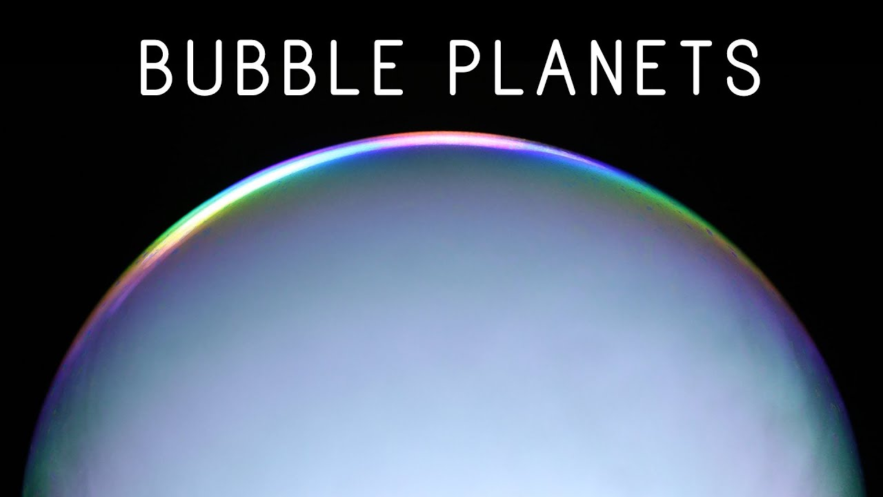 Watch These Dry Ice Bubbles Turn Into Swirling Alien Planets