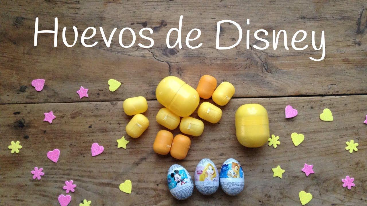 Huevos Kinder Princesas Disney | Huevos Sorpresa en español