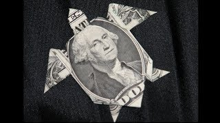 How To Fold A Origami Turtle From Dollar Bill- Dollar Origami Instruction- Origami Tutorial