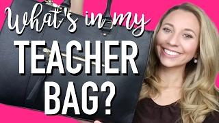 WHATS IN MY TEACHER BAG? | A Classroom Diva
