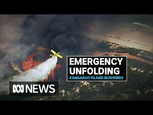 Bushfire emergency warnings for Kangaroo Island towns as rest of island goes on alert | ABC News