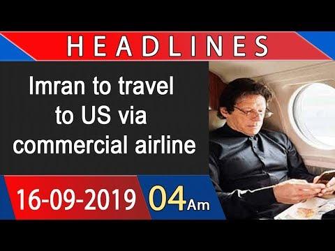 Headlines | 4 AM | 16 September 2019 | 92NewsHDUK
