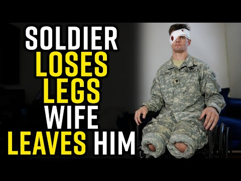 Military Man Loses Leg and Wife---