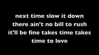 chris brown - time to love lyrics