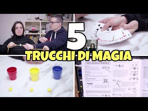 5 TRUCCHI DI MAGIA FACILI PER STUPIRE con carte, anelli, bicchieri e dadi