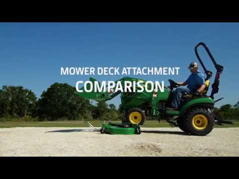 John Deere AutoConnect™ Drive-over Mower Deck Comparison