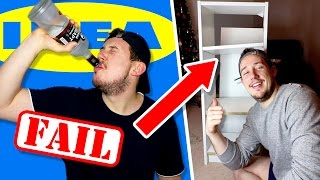 DRUNK IKEA FURNITURE BUILDING CHALLENGE