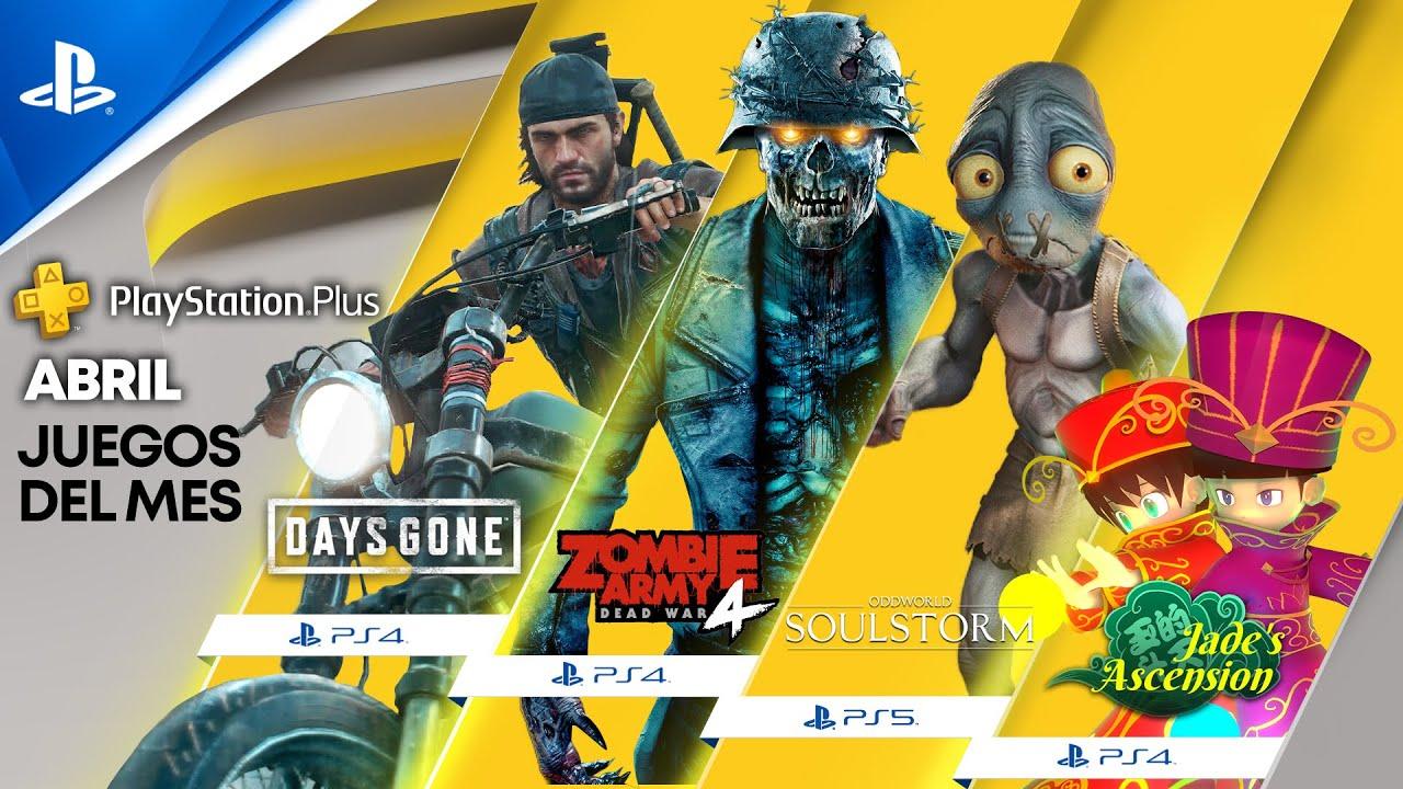 Juegos de PlayStation Plus para abril: Days Gone, Oddworld: Soulstorm y Zombie Army 4: Dead War