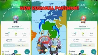 NEW REGIONAL POKEMON IN POKEMON GO! WHERE TO FIND ILLUMISE AND VOLBEAT!