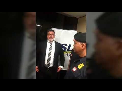 Wagnew o fiscal do Povo em Brasília no protesto dos Guardas Civis de Cotia