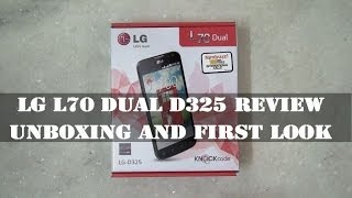 LG L70 Dual D325 Review: Unboxing and First look