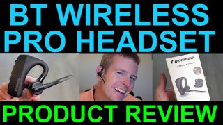 Professional Wireless Bluetooth Headset by Conambo Review aptX HD CVC Noise Cancelling