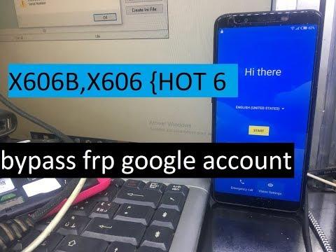 bypass frp google account verification reset Infinix Hot 6 INFINIX