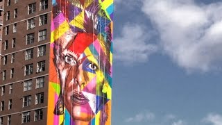 David Bowie Rising (Mural by KOBRA)