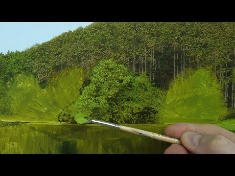 realistic trees in 3 easy steps oil painting tutorials by michael james smith