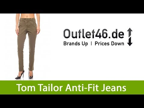Tom Tailor Anti Fit Jeans günstig Sommer Hose Damen Lynn Khaki | Outlet46.de