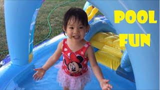 Bể bơi phao nàng tiên cá   Family Fun Kids Play Center Pool Inflatable Slide   Vui Cùng Chie