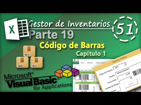 Gestor de Inventarios Parte 19   Código de Barras capítulo 1   VBA Excel 2013 #51