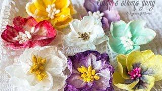 Handmade Flowers Tutorial// МК Цветы из влажных салфеток