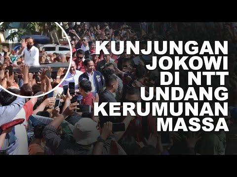 Kunjungan Presiden Jokowi di NTT Undang Kerumunan Massa