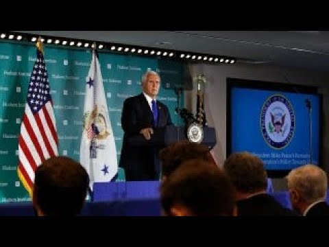Pence takes aim at China for trying to meddle in US elections
