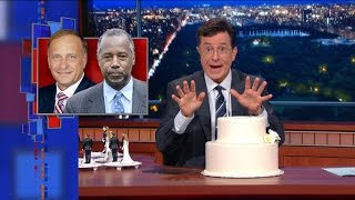 Stephen Colbert's All-Inclusive Wedding Cake Toppers