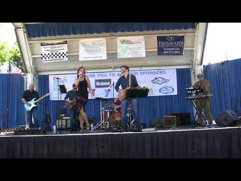 The Jukebox Rockers perform at a street festival in Westlake Village, CA. April 22, 2018