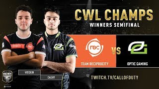 Team Reciprocity vs Optic Gaming | CWL Champs 2019 | Day 4