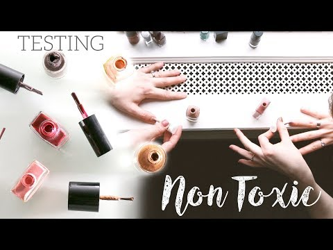 BEST NON-TOXIC NAIL POLISH | testing 5 brands