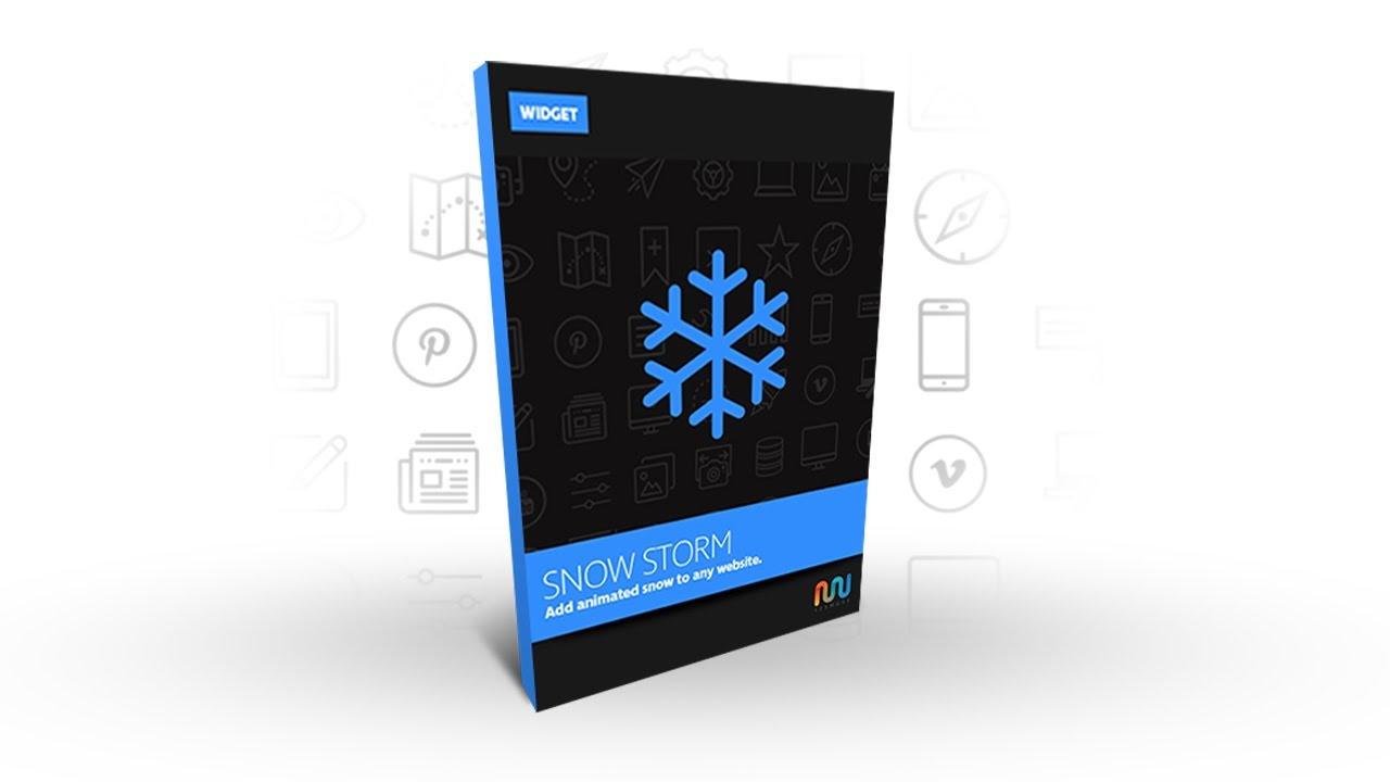 Adobe Muse Widget or Adobe Muse Template | Adobe Muse Snow Storm